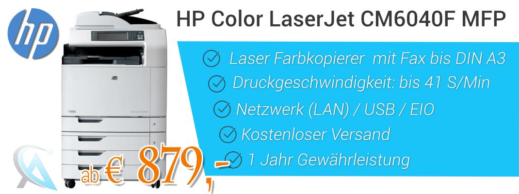 HP Color Laserjet CM6040f Farbkopierer