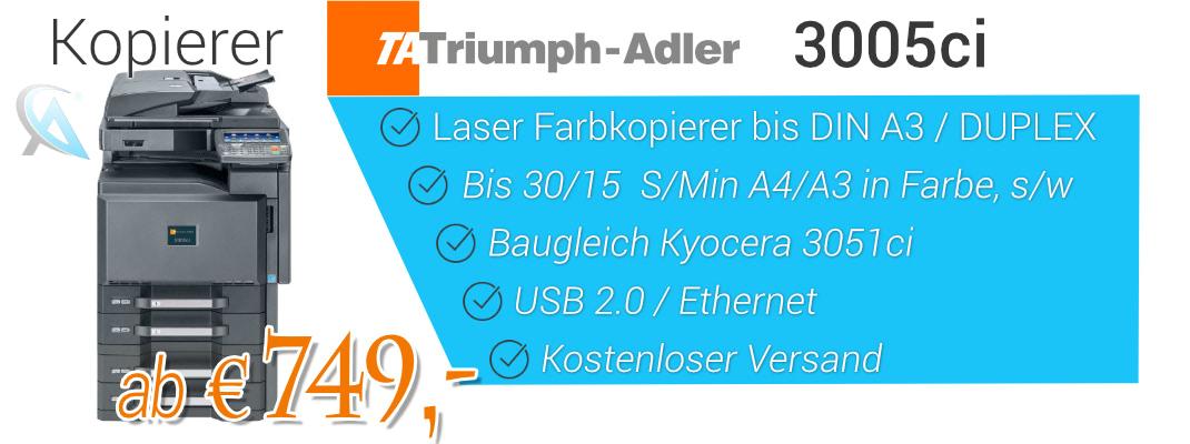 Triumph Adler 3005ci - Baugleich Kyocera 3051ci - gebrauchter A3 Kopierer