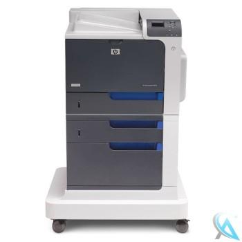 HP Color LaserJet CP4025DTN gebrauchter Laserdrucker auf Rollen