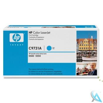 Original HP C9731A, 645A Toner Cyan