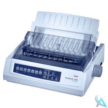 OKI Microline 3390 Nadeldrucker gebraucht ohne USB mit defekter Abdeckung oben