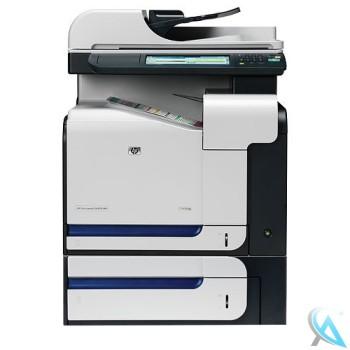 HP Color Laserjet CM3530 MFP Multifunktionsgerät mit Zusatzpapierfach mit neuem Tonersatz