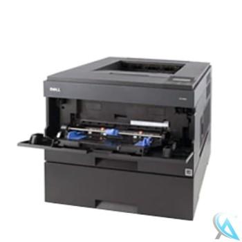 Dell 2330D gebrauchter Laserdrucker mit Zusatzpapierfach 550 Blatt und neuem Toner, neuer Trommel