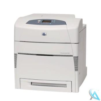 HP Color LaserJet 5500N gebrauchter Farblaserdrucker mit 147.290 gedruckten Seiten ohne Toner