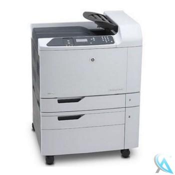 HP Color LaserJet CP6015DN gebrauchter Farblaserdrucker auf Rollen