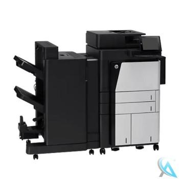 HP LaserJet Enterprise flow M830z MFP gebrauchte Kopierer CF367A mit Finisher CZ996A mit Heften Lochen