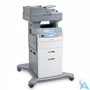 Lexmark X654de gebrauchtes Multifunktionsgerät mit Zusatzpapierfäch auf Rollen
