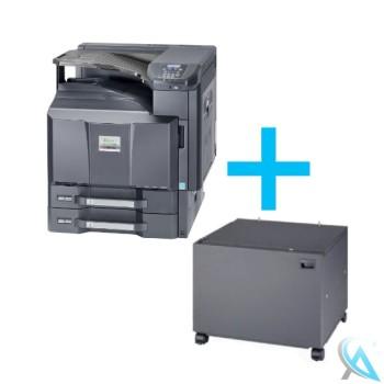 Kyocera FS-C8650DN gebrauchter Farblaserdrucker mit Unterschrank CB-731