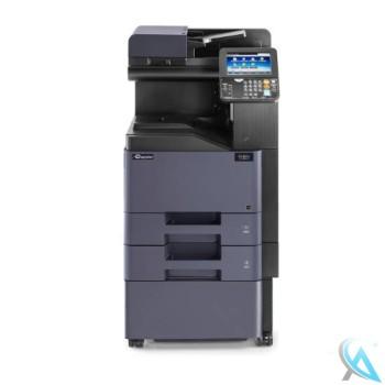 Kyocera TASKalfa 307ci gebrauchter Kopierer mit Zusatzpapierfach mit Unterschrank auf Rollen