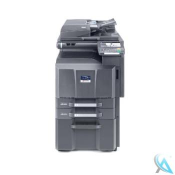 Kyocera TASKalfa 3510i gebrauchter Kopierer auf Unterschrank mit Rollen
