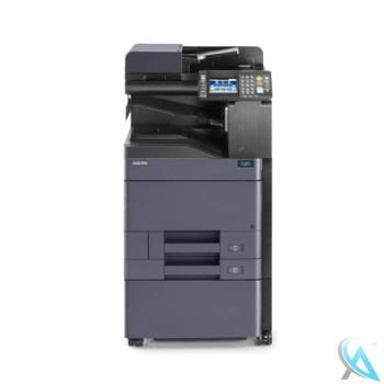 Kyocera TASKalfa 306ci gebrauchter Kopierer mit Zusatzpapierfach mit Unterschrank auf Rollen