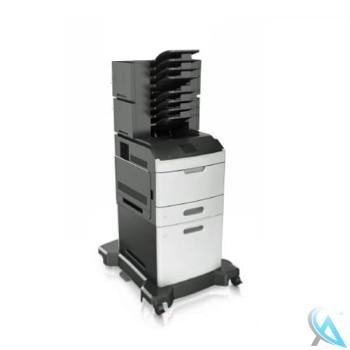 Lexmark MS812dn gebrauchter Laserdrucker mit Zusatzpapierfach 40G0804 und 2x Mailbox 40G0852 auf Rollen