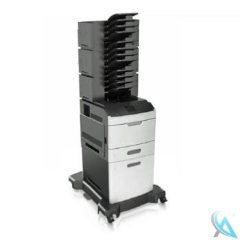 Lexmark MS812dn gebrauchter Laserdrucker mit Zusatzpapierfach 40G0804 und 3x Mailbox 40G0852 auf Rollen