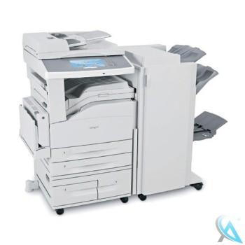 Lexmark X860de gebrauchter Kopierer auf Rollen mit Unterschrank 15R0120 und Finisher 4024-FIN 15R0143