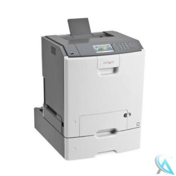 Lexmark C748dte gebrauchter Farblaserdrucker mit Zusatzpapierfach 27S2100