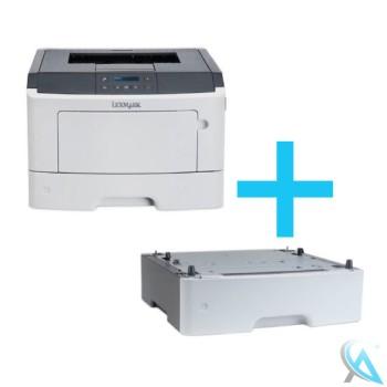 Lexmark MS410D gebrauchter Laserdrucker mit Zusatzpapierfach 35S0567