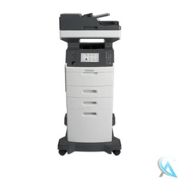 Lexmark MX710de Multifunktionsgerät mit 1x Zusatzpapierfach 40G0802 und 1x Zusatzpapierfach 40G0804 auf Rollen