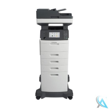 Lexmark MX711de gebrauchtes Multifunktionsgerät mit Papierfach 2x 40G0802 und 40G0804 auf Rollen