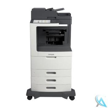 Lexmark MX810de Multifunktionsgerät mit 2x Zusatzpapierfächer 24T7300 auf Rollen
