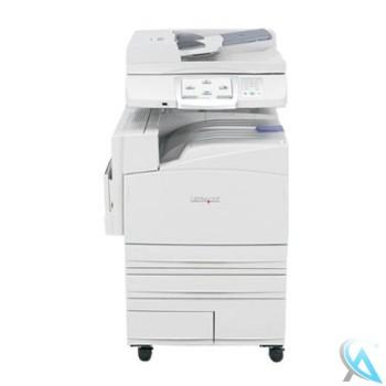 Lexmark X945e mit 4 Papierfächern auf Rollen gebrauchter Kopierer