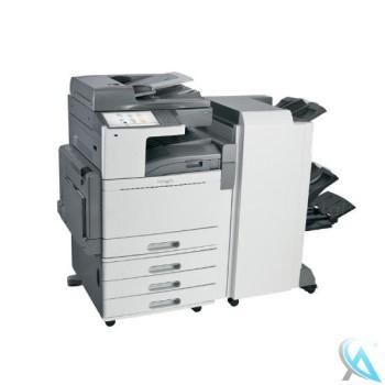 Lexmark X950de gebrauchter Kopierer mit Papierfach 22Z0013 (3 x 520-Blatt) auf Rollen mit Finisher 7558-FNS OHNE Toner