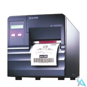 Sato M-5900RVe gebrauchter Thermo Etikettendrucker OHNE Etikettenschneider OHNE Netzwerkkarte