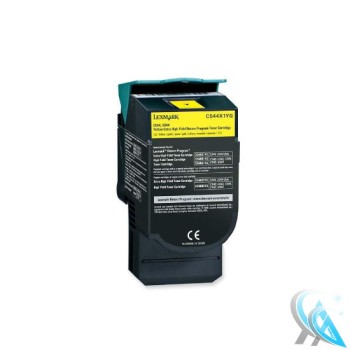 Lexmark original gebrauchter Toner C544X1YG Gelb für C544 C546 X544