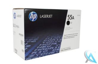 Original HP Toner CE255A, 55A Schwarz für HP Laserjet P3015X